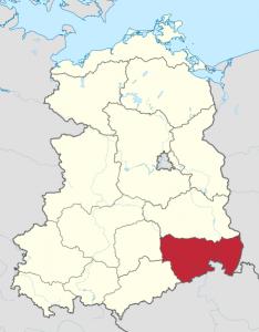 Karte vom Bezirk Dresden