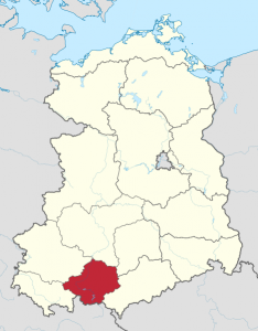 Karte vom Bezirk Gera