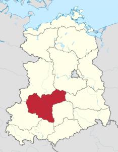 Karte vom Bezirk Halle