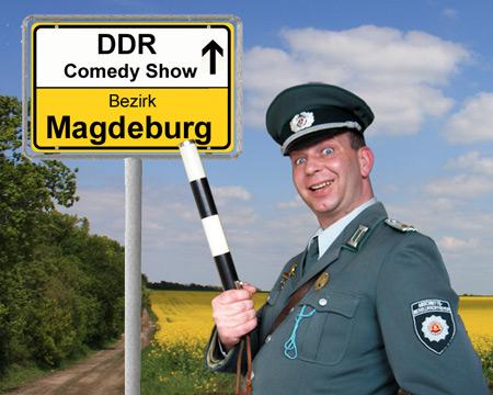 DDR Comedy mit Volkspolizist und ABV m Bezirk Magdeburg